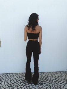 Calça Flare Thassia Preta-3