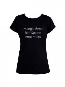 T-shirt Mangia Bene Preta -1