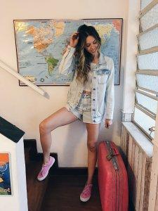 Shorts Jeans Julia Claro -21