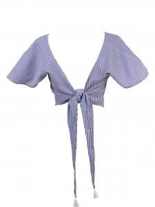 Blusa Rio Listrada Azul -8