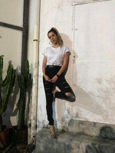 Calça  Nicole Preta Giletada Jeans-5