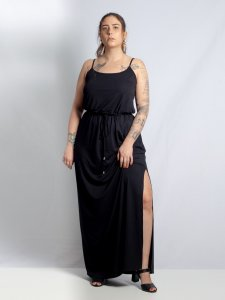 Vestido Alice Preto Longo-2