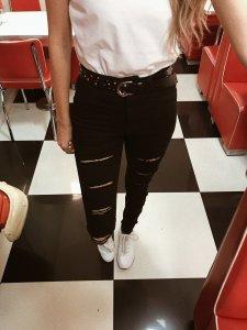 Calça  Nicole Preta Giletada Jeans-3