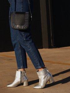 Calça Mom Jeans Azul -3