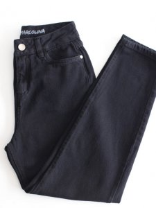Calça Mom Jeans Black-4