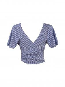 Blusa Rio Listrada Azul -12