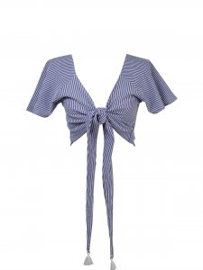 Blusa Rio Listrada Azul -10