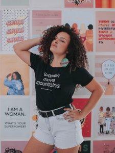 T-shirt Women Preta -13