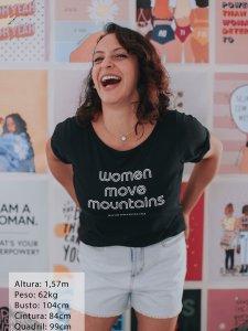 T-shirt Women Preta -3
