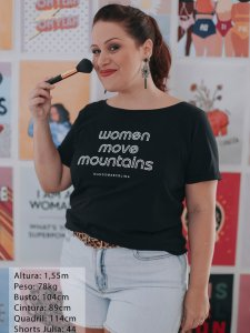 T-shirt Women Preta -6