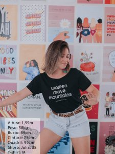 T-shirt Women Preta -10
