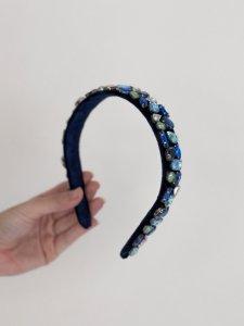 Tiara Pedraria Azul -2