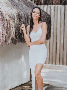 Shorts Saia Assimétrico Branco -6