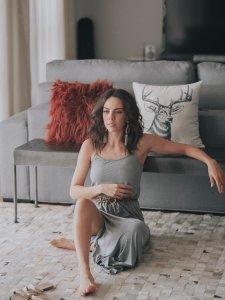 Vestido Alice Mescla Longo-11