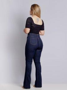 Calça Jeans Flare Escura SEGUNDA LINHA-2