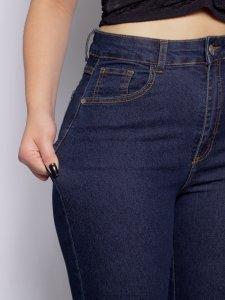 Calça Jeans Flare Escura-5