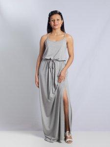 Vestido Alice Mescla Longo-2