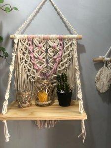Porta Vasos e Objetos Macrame-3